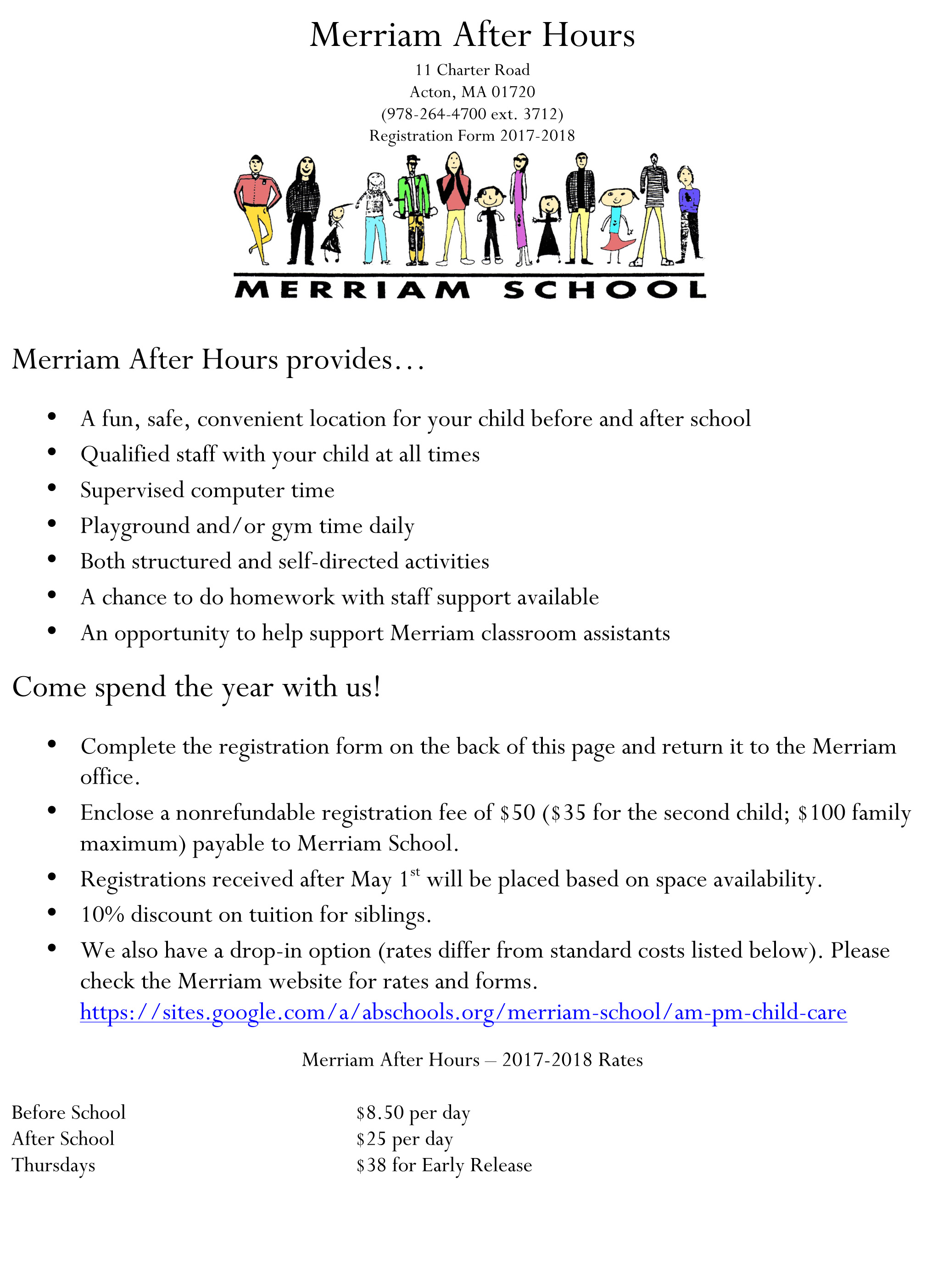 2017/2018 Merriam After Hours Info and Signup – Merriam School PTO