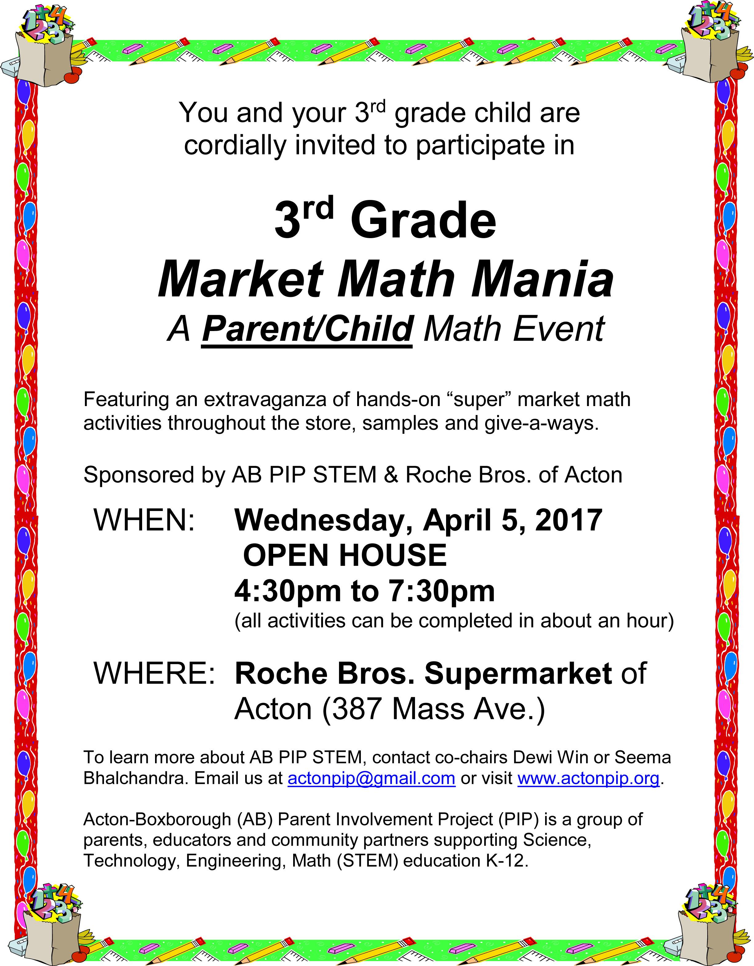 3rd Grade Market Math Mania @ Roche Bros. Supermarket | Acton | Massachusetts | United States