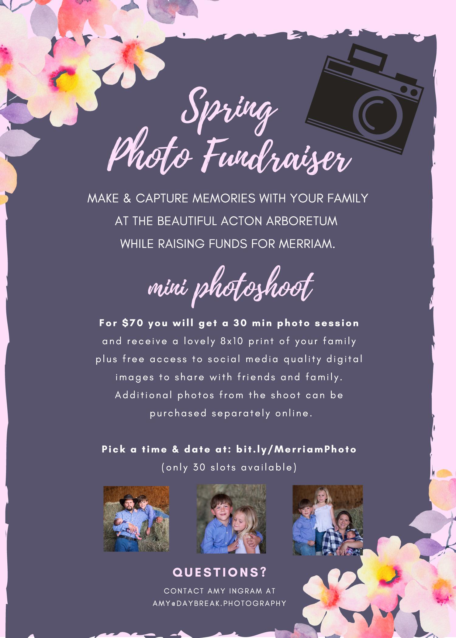 Merriam Spring Photo Fundraiser @ Acton Arboretum | Acton | Massachusetts | United States