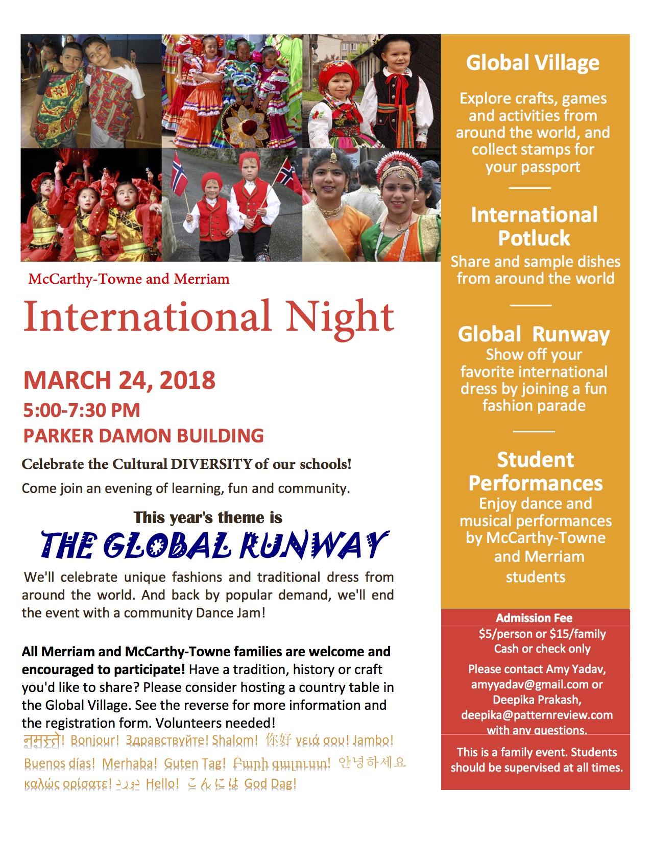 International Night @ Merriam Elementary School - Gymnasium and Cafetorium | Acton | Massachusetts | United States