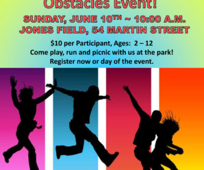 Jones Field and Playground Fun Run with Obstacles Event!
