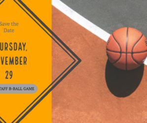 Save the date! PTO VS. STAFF Basketball Game – Thursday, November 29th