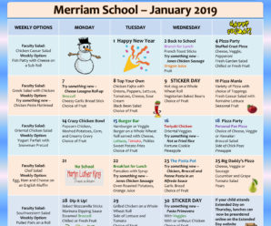 January Lunch Menu Viewable/Downloadable here!