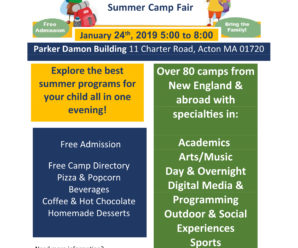 Can you stuff bags with us? Donate some food/bake sale items? Acton Summer Camp Fair truly needs YOUR help!  Many different ways to volunteer – check it out…..(and sign up here!)