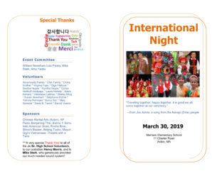 Thank you, International Night Team!