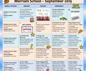 From the Food Services Office – Presenting: Your September Menu!