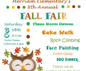 Fall Fair is Less Than a Month Away!!