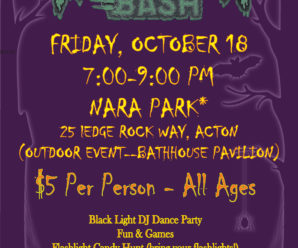 Monster Bash – Friday October 18th from 7-9pm at NARA