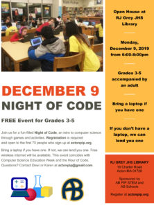 Night of Code @ RJ Grey Library