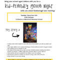 Kid-Friendly Movie Night during Boxborough Town Meeting – Tues, Dec 10th.  RSVP by Dec 8th!