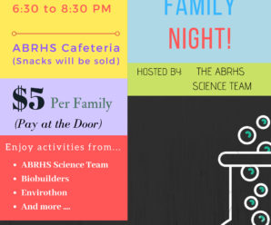 Science Family Night – November 22nd!