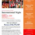 International Night Date!  Save March 21st to explore the world with Merriam