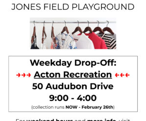 Used Clothing Drive to support Jones Field Playground!