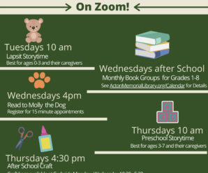 Acton Memorial Library Children's Department – ON ZOOM!