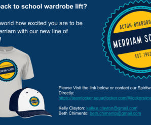 New Merriam SpiritWear Site.  Always open!