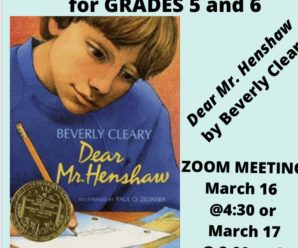 March Grade 5/6 Book Club