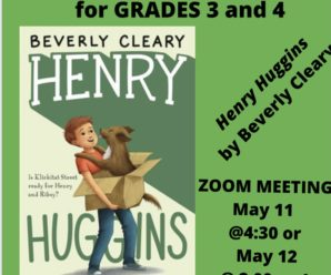 GRADES 3/4 May Book Club