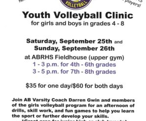 Volleyball Clinic Grades 4-8